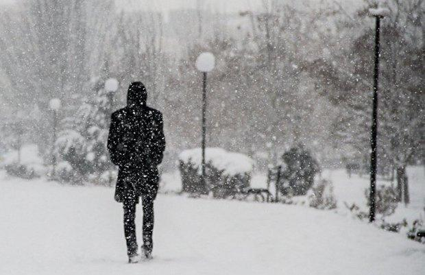 افت شدید دمای هوا در اردبیل، برف و باران استان را فرا گرفت