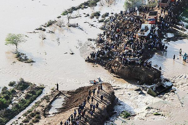 خوزستان؛ ده ها هزار هکتار از اراضی کشاورزی زیر آب رفت