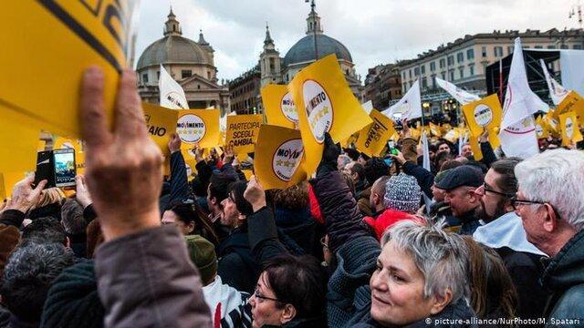 دولت جدید ایتالیا از ائتلاف جنبش پنج ستاره با حزب دموکراتیک تشکیل می گردد