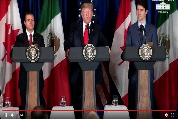 سران آمریکا، مکزیک و کانادا توافق جایگزین نفتا را امضاء کردند
