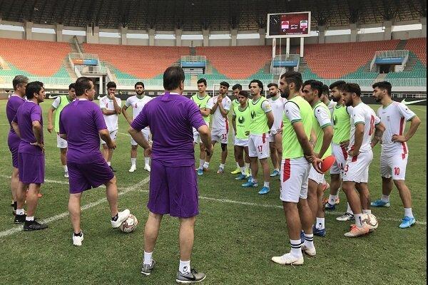 آخرین تمرین تیم امید پیش از دومین دیدار با اندونزی