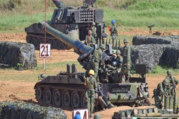 تایوان آمادگی نظامی خود را برای مقابله با چین به آزمایش گذاشت