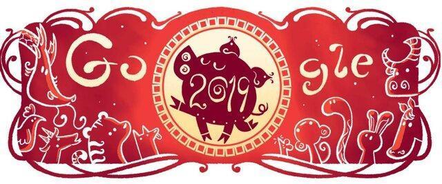 تغییر لوگوی گوگل به مناسبت سال نو چینی
