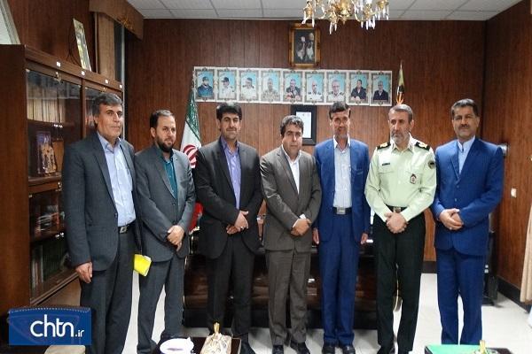 ملاقات سرپرست اداره کل کهگیلویه و بویراحمد با فرمانده انتظامی استان