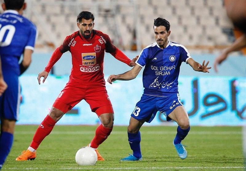 لیگ برتر فوتبال، پرسپولیس و گل گهر با تساوی راهی رختکن شدند