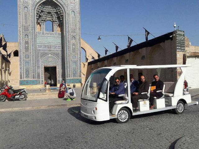 شروع به کار نخستین خودروی برقی گردشگری شهر یزد