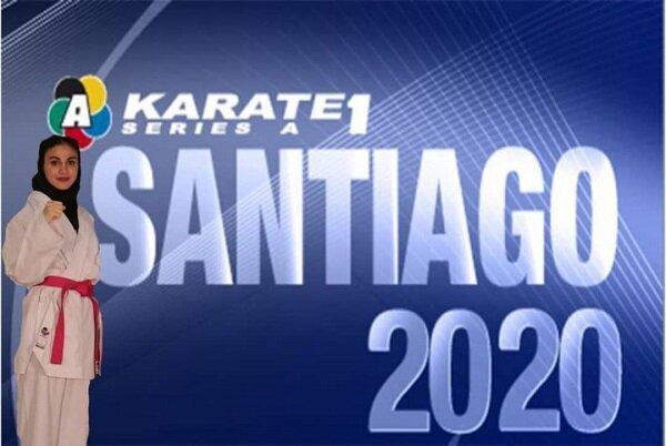 بهمنیار به دیدار رده بندی رقابت های کاراته وان شیلی راه یافت