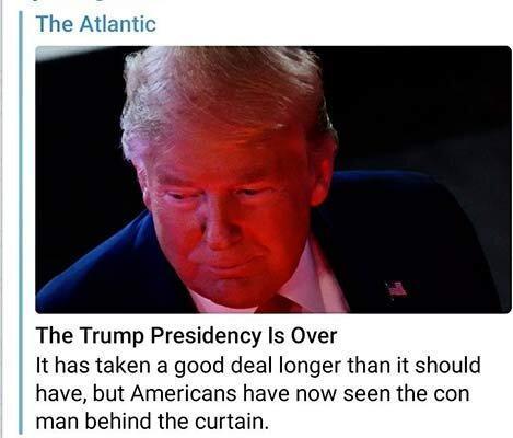 تحلیل آتلانتیک ، با ویروس کرونا ریاست جمهوری ترامپ به سرانجام رسید