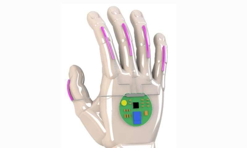 دستکشی برای تبدیل زبان اشاره به گفتار ، در آن واحد زبان اشاره را درک کنید
