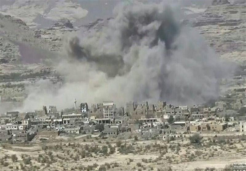 حمله هوایی جنگنده های سعودی به مناطق مسکونی یمن