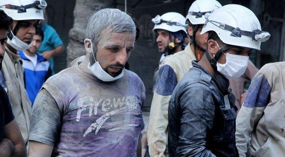 هشدار روسیه درباره تدارک کلاه سفیدها برای حمله شیمیایی ساختگی در سوریه