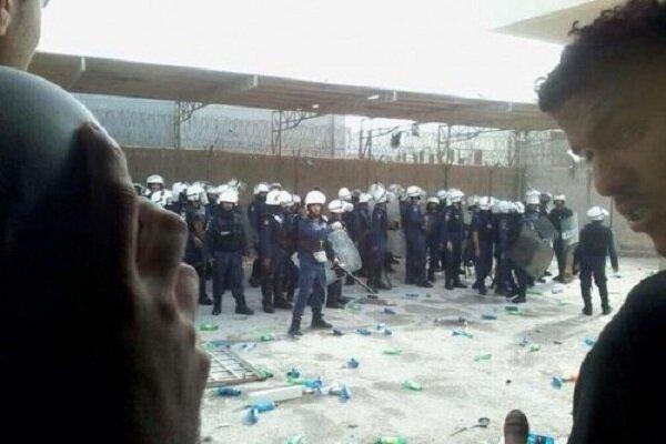 حمله نیروهای آل خلیفه به زندان جو بحرین، خونی شدن صورت زندانیان