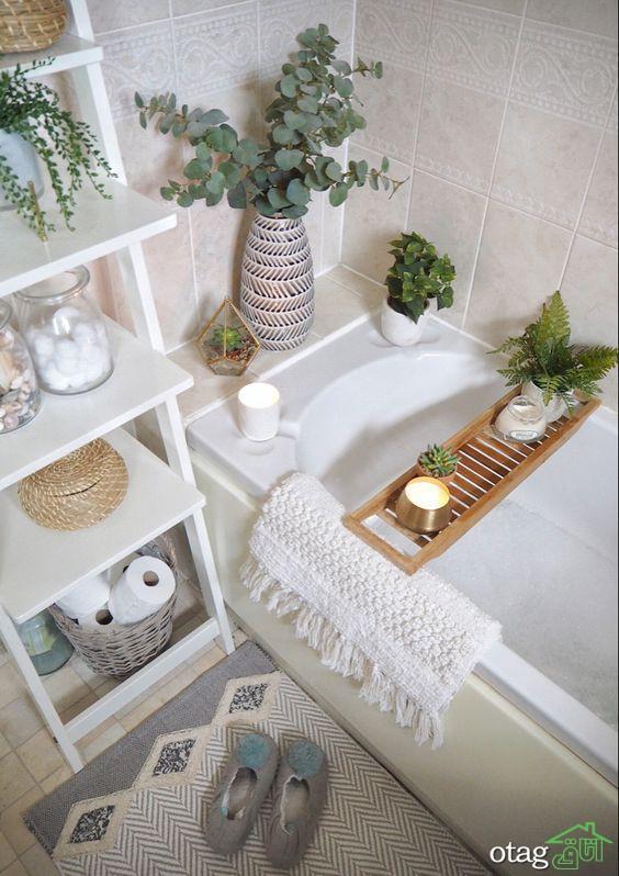 دکوراسیون کاربردی و شیک حمام و سرویس بهداشتی کوچک [ 5 طرح تازه ]